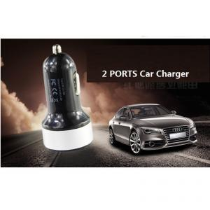 China Manufacture Hot Sale Dual Port Universal 5V USB Car Charger For iPhone 5 5s iPad 2 3 4 5 iPod eGo e Cigarette Camera Red