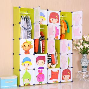 Cute Children's Storage Cabinet Used for Storing Clothes Toys Books