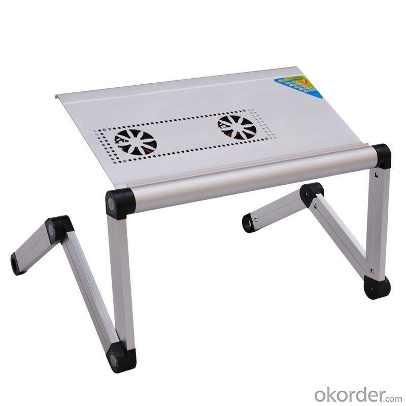 China Factory Adjustable Angle Tablet Table With Fan, Folding Laptop Desk With Height Adjustable Legs, Healthy Children Table
