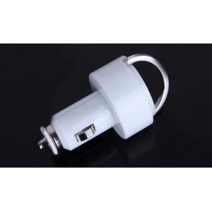 Car Charger for Smart Phones/ipad/iTouch/MP3/MP4/E-Cigarette/Camera with Dual USB Port with Ring Pull
