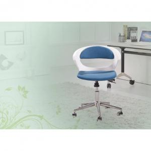 Swivel Computer Chair for Kids with Ergonomic Design Blue White