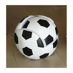 Cartoon Ball Pattern Children's Sofa with Fabric Material Black White
