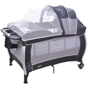 3-Part Turning Canopy With Toys Baby Pram Grey