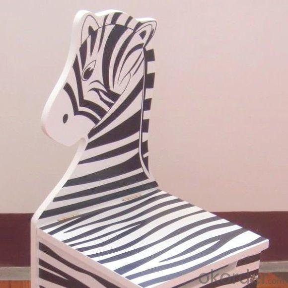 Wooden Horse Chair for Preschool Chilren with Different Pattern