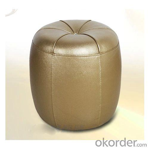 Round Shape Leather Stool Used for Home with Multiple Color