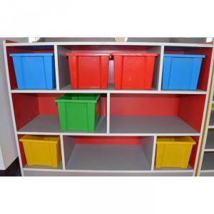 Wooden Toy Storage for Children Stable Structure High Capacity