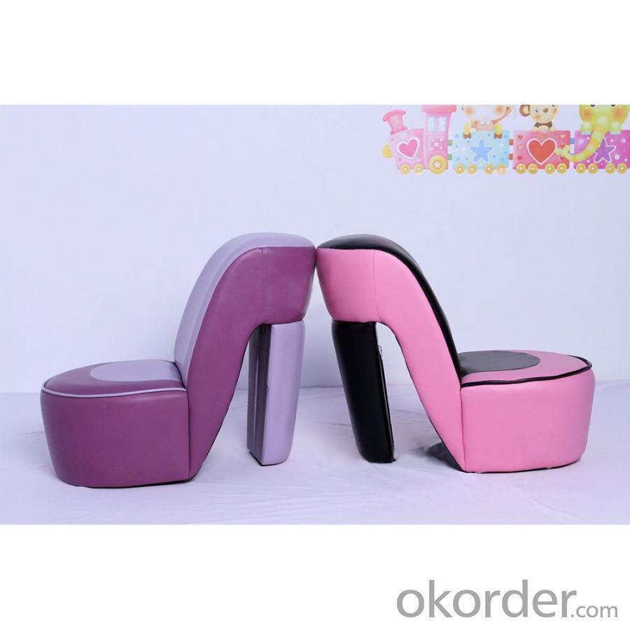High-heeled Style Children's Sofa with Ergonomic Design Pink Purple