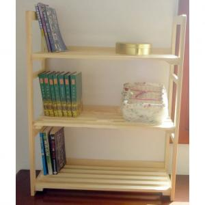 Simple Bookshelf for Children Eco-friendly Wood Material Non-toxic