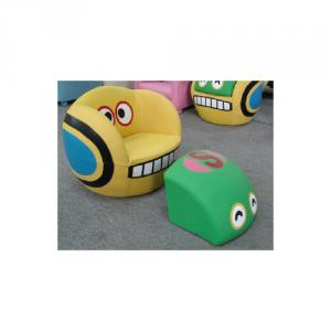 Cartoon Pattern Children's Sofa Durable Wood Frame Non-toxic