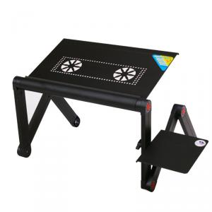 Wholesale Foldable And Height Adjustable Laptop Table With Fan Folding Laptop Table For Sofa, Children Study Table