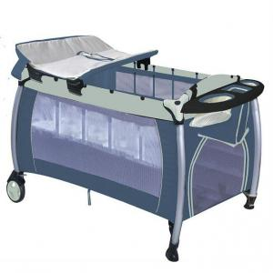 Europe Playpen With Double Layer -Khaki Blue