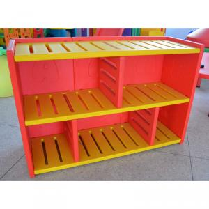 Plastic Cabinet Storage for Kids High Capacity Bright Color