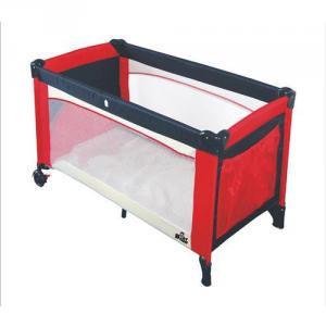 Foldable Baby Playpen with Iron Pipe Structure Thick Mattress Easy to Clean