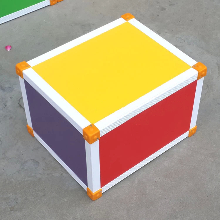 MDF Board Children's Colorful Square Stool with Eco-friendly Material