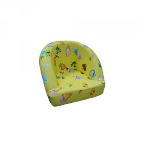 Children's Single Relax Sofa with Eco-friendly Material Flower Pattern