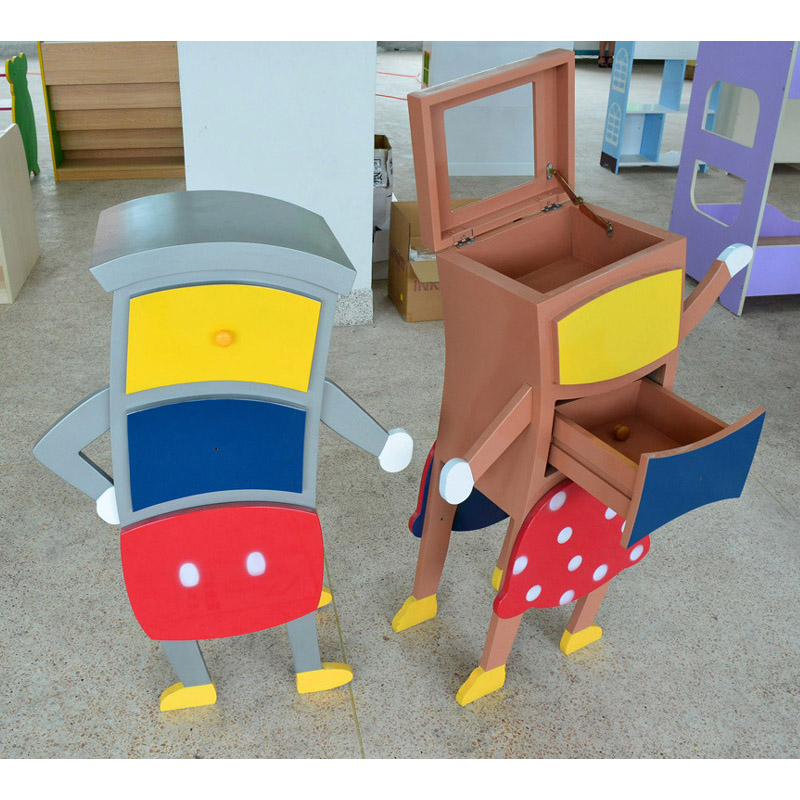 Cartoon Style Kids' Cabinet Attractive Design Multiple Pattern