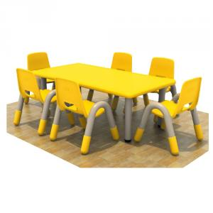 Six Seats Pp Plastic Children'S Chairs With Different Colors
