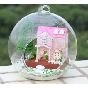 Funny Wooden House Doll House With Light And Simulation Furniture
