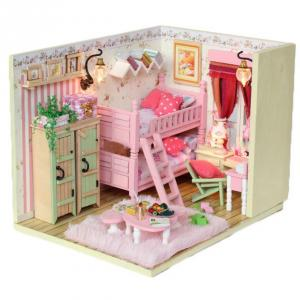 Diy Doll House With Light And Simulation Furniture