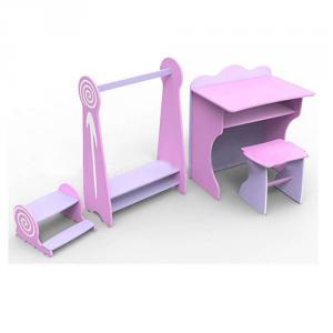 Preschool Kids Desk Children School Table and Chair Set in MDF Board