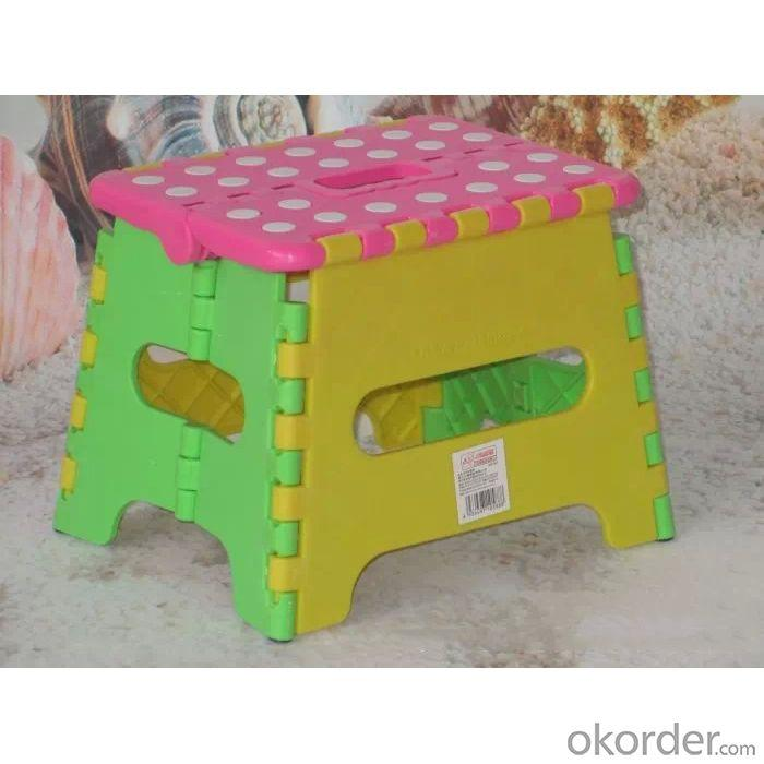 Foldable Kids' Stool with Environmental Plastic Cute and Comfortable