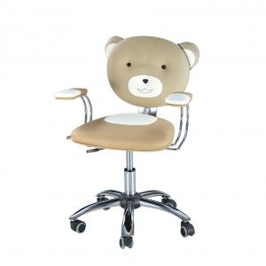 Stylish Children's Computer Chair with Chromed Steel Frame