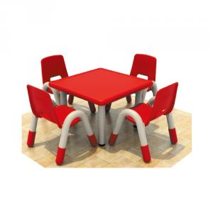 Four Seats Square Desk Pp Plastic Children'S Chairs