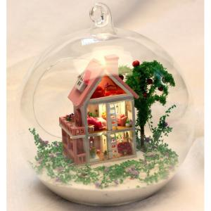 Adult Wooden Doll House With Light, Diy Wooden Toy House, Miniature Wood Crafts House