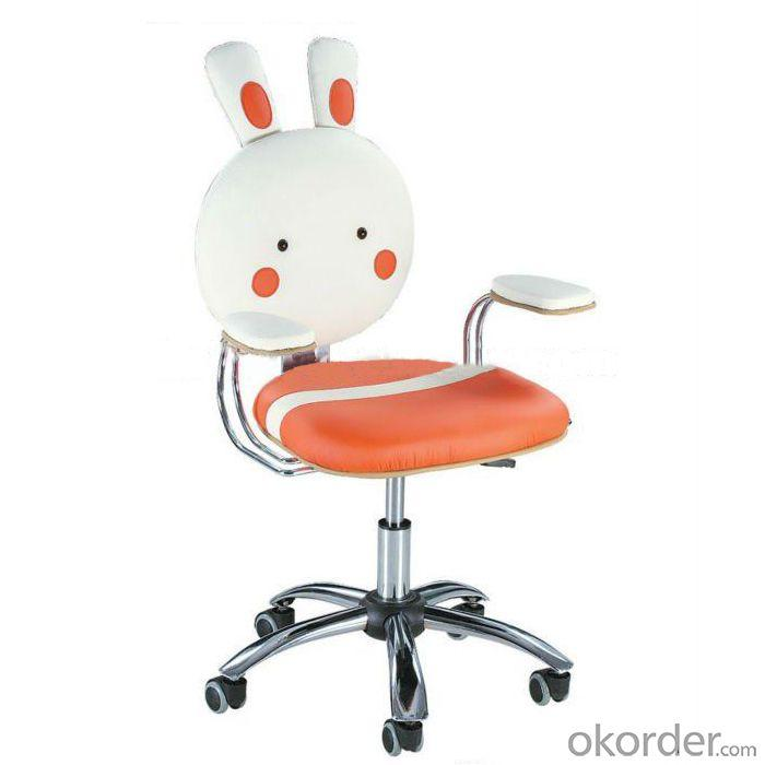 Synthetic Leather Computer Chair for Kids Rabbit Cartoon Pattern