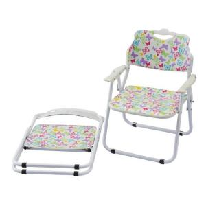 Metal Frame Kids' Chair with Armrest Foldable and Durable