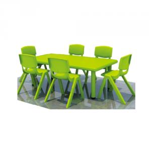 Six Seats Square Pp Plastic Children'S Chairs With Different Colors