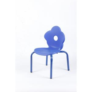 Flower Style Children's Chair with Durable Powder Coating Steel Frame