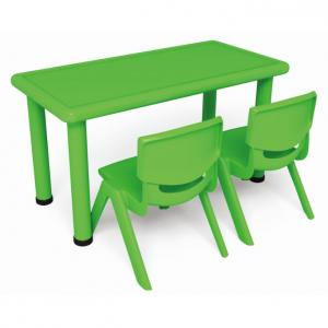 Two Seats Square Desk Pp Plastic Children'S Chairs