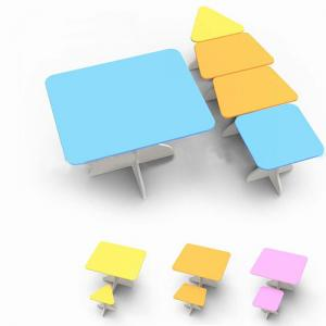 Children Furniture/Kids Desk/Student Study Table and Chair Set of Multi Function