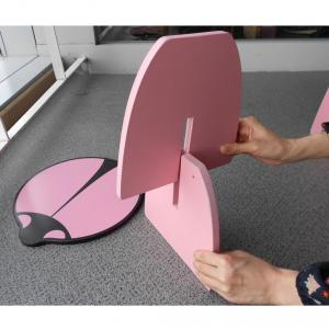 Children Table Kids Study Desk in Pink Beatles Cartoon