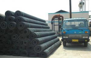 Warp Knitting Woven Polyester Geogrid with Bitumen/PVC coated for Roadbed/Railway/Airport etc
