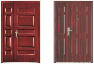 PVC Film Metal Security Door Series Manufactory