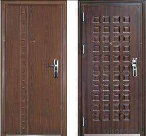 MDF Board Coated Security Door Manufactory