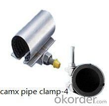 stainless steel pipe clamp with screw