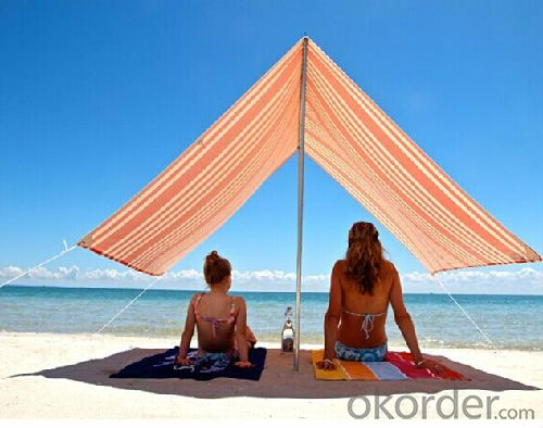 Cotton Canvas Beach Shade Tent with Carry bag