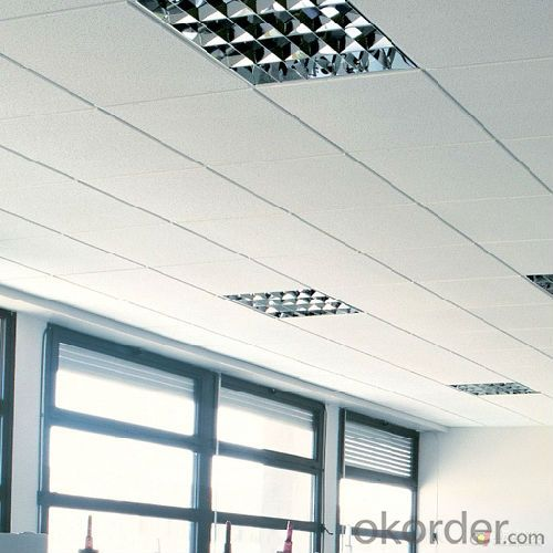 Durable 12mm Thickness Fireproof Acoustic 60x60 Mineral Ceiling Tiles