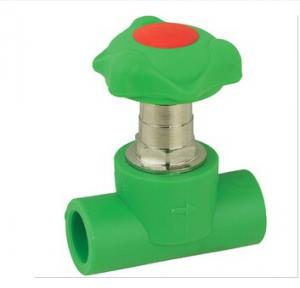 PPR brass stop valve with lift type on sales Comply with  Food Hygiene Regulations and Non-toxic