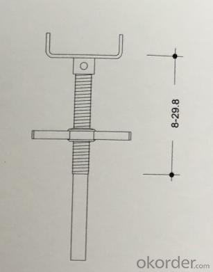Germany standard  D15 formwork shoring system steel prop