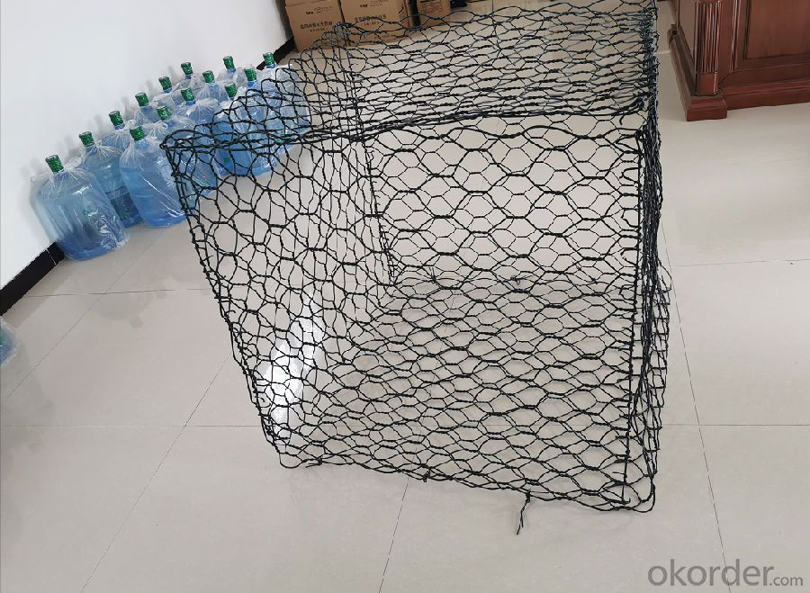 PVC Coated Hexagonal Gabion Mesh Stone Cage