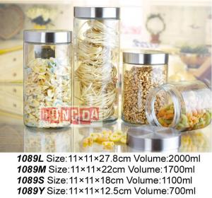 Glass Storage Jar 1089