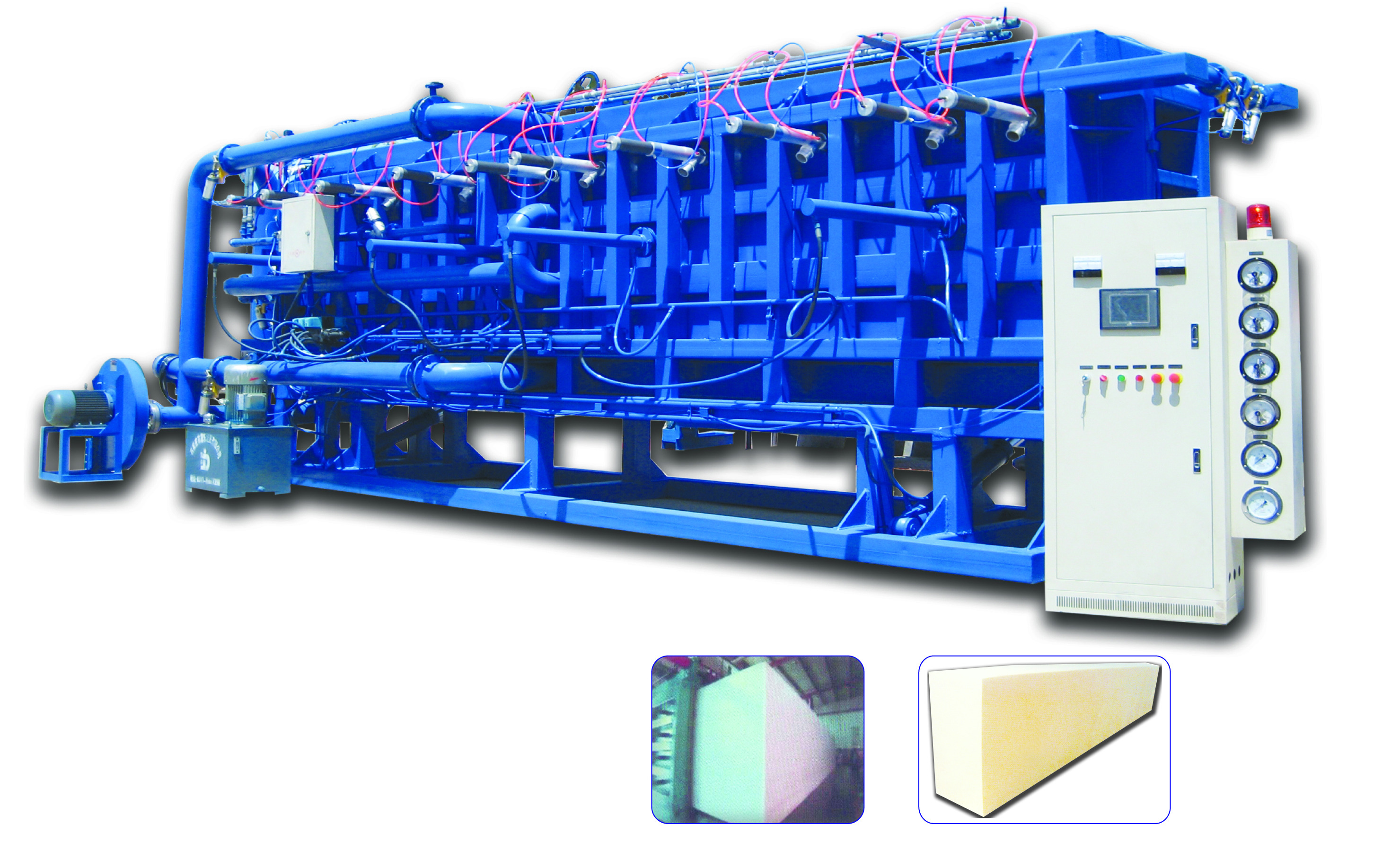 Automatic air cooling block molding machine