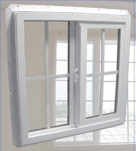 Pvc Sliding Window with Double Glass Manufacturer