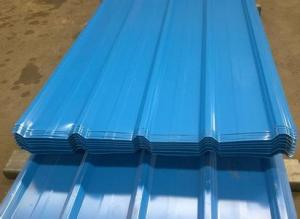 Pre-Painted Galvanized/Aluzinc Corrugated Steel Sheet Royal Blue
