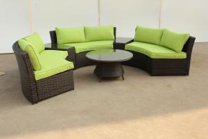 Popular Outdoor Rattan Sofa set for garden power coated aluminium frame