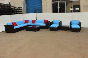 Popular Outdoor Rattan Sofa set for garden waterproof cushion